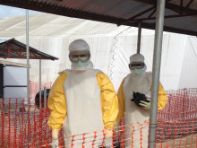 Ebola center i Bo, Sierra Leone