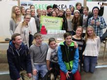 """Nordlyckeskolan 8B vann Framtida transporter med """"Världens miljövänligaste båt"""""""