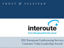 Interoute erhåller Frost & Sullivan Customer Value Leadership Award
