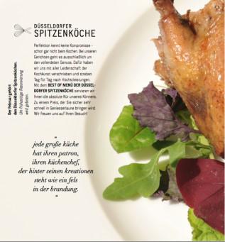 """Halbzeit für Spitzenmenü Genussmonat Februar: Düsseldorfer Spitzenköche laden zum zweiten """"Best Of-Menü"""""""