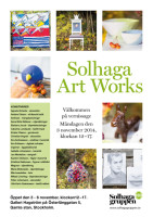 Pressinbjudan till vernissage - Solhaga Art Works 2014