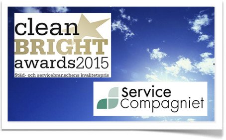 ServiceCompagniet i final i CLEAN Bright Awards 2015!