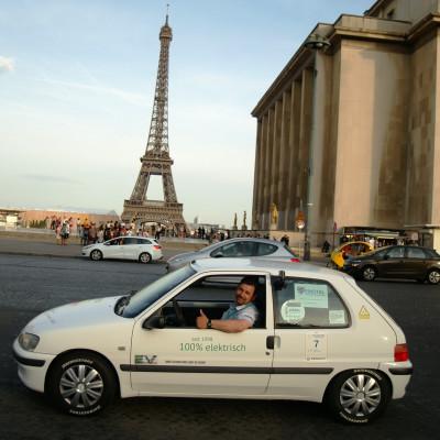 Sähköautot kisasivat Euroopan halki Bridgestonen renkailla