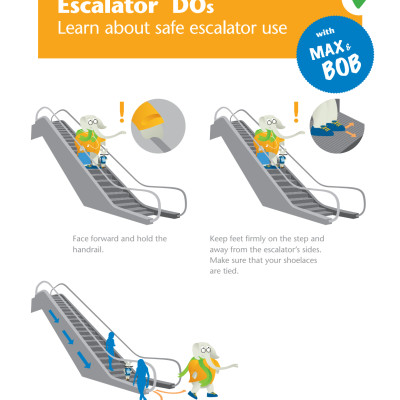 Use Escalator Safely with Tips from Max & Bob