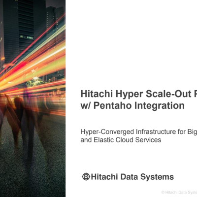 Hitachi Hyper Scale-Out Platform (HSP) w/ Pentaho Integration