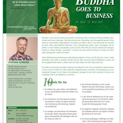 Anmeldeformular Buddha goes to Business