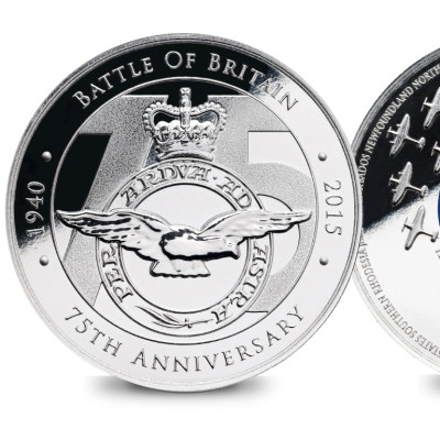 250,000 free commemorative medals available to the public to commemorate the 75th anniversary of the Battle of Britain