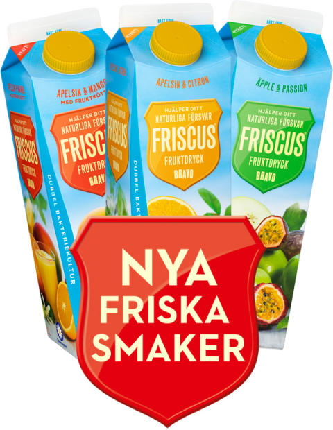 Friscus Fruktdryck med nya friska smaker