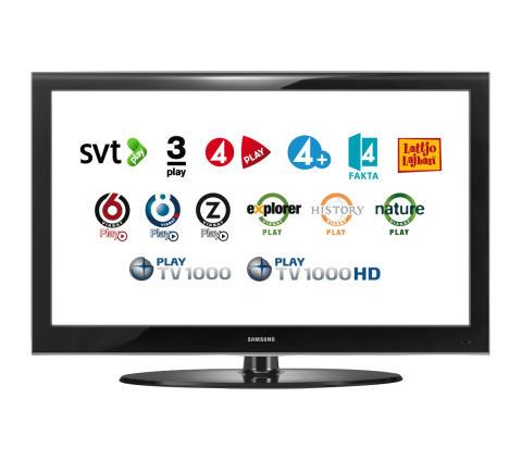 SVT Play och TV4 Play på webbtjänsten Viasat OnDemand