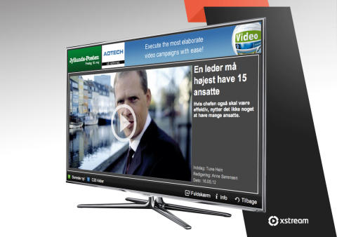 Xstream delivers the world's first TV app available on all Samsung Smart-TVs and Blu-Ray