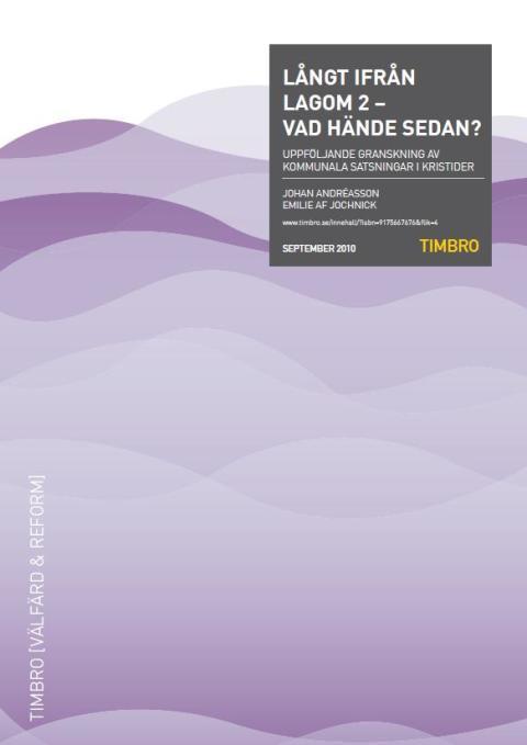 Ny Timbro-granskning visar: Gotland prioriterar speedwaybana framför mötesplats för äldre