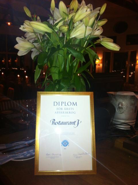 Restaurant J - Årets Affärskorg