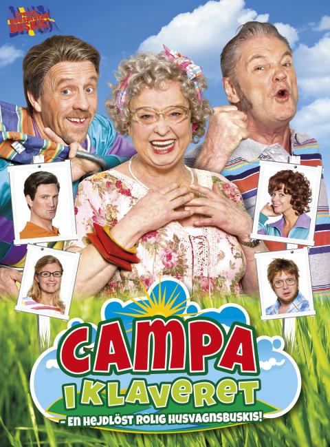 """Succé för """"Campa i klaveret –En hejdlöst rolig husvagnsbuskis"""", på Vallarnas friluftsteater."""