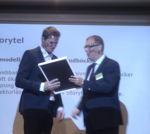 Storytel vinnare i Innovationstävling