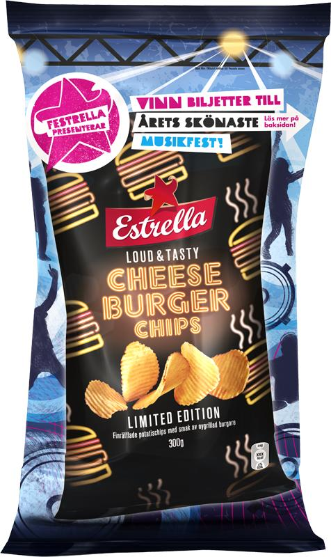 Nyhet! Estrella Cheese Burger Chips