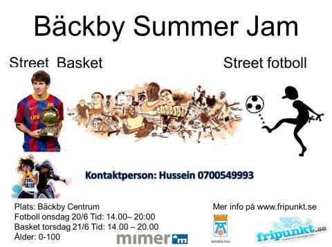 Affisch Bäckby Summer Jam