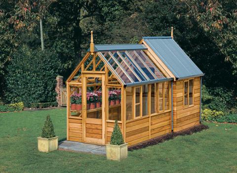 växthus och trädgårdbod – allt i ett