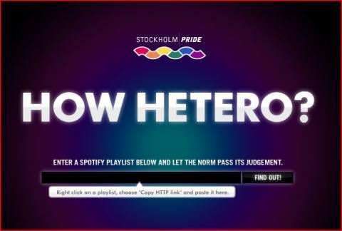 Stockholm Pride heterotestar Spotify