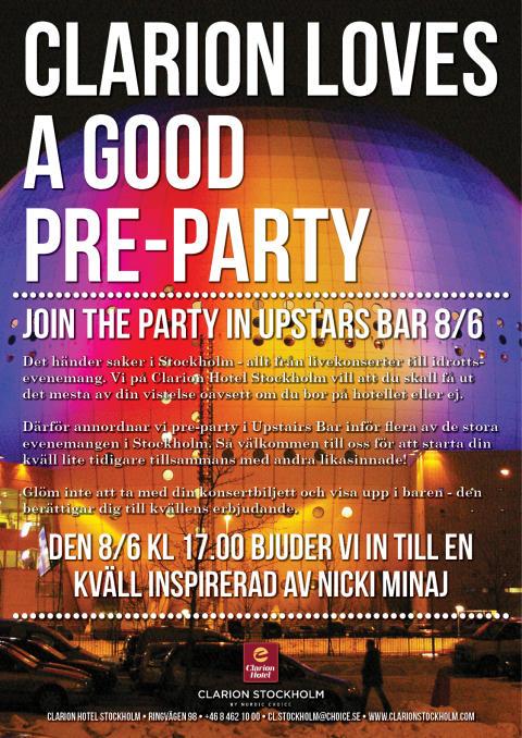 Nicki Minaj på Clarion Hotel Stockholm