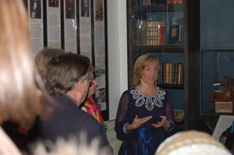 Champagneglitter på Nobelmuseet den 10 december