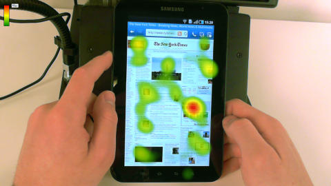 Galaxy Tablet Heat map