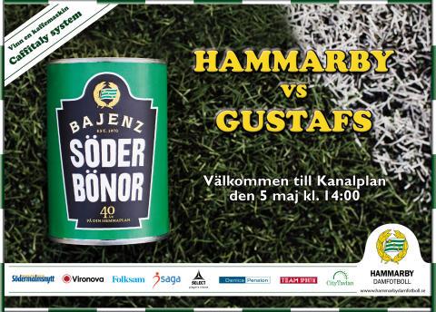 Välkomna till Hammarby-Gustafs Goif på lördag på Kanalplan