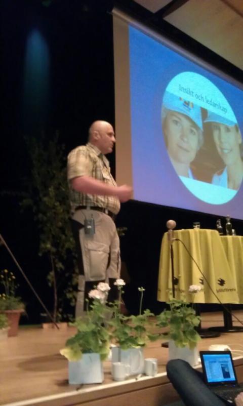 Robert Lundgren talade på Naturskyddsföreningens årliga Rikskonferens