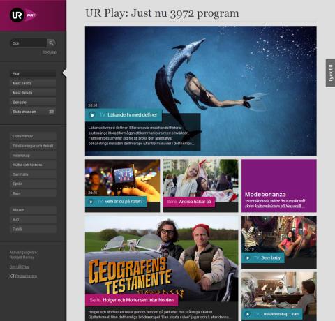 UR lanserar ny UR Play