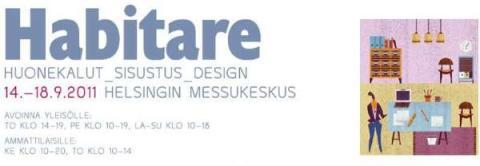 Olemme mukana Habitare-messuilla 14.-18.9.2011 osastolla 6r51!