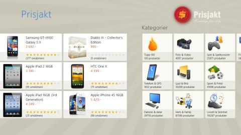 Prisjakt bland de första i Sverige med Windows 8-app