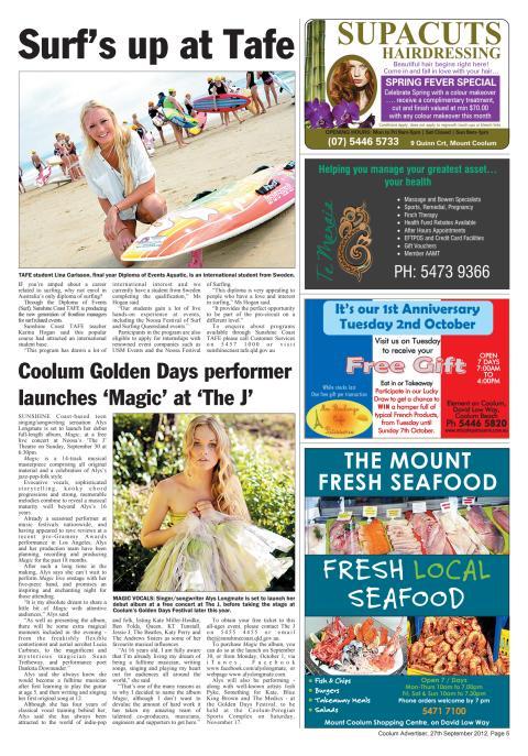 Lina studerar i Australien och surfar...
