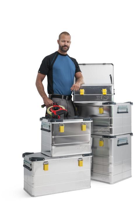 Aluminiumlådor för smidig transport och säker förvaring