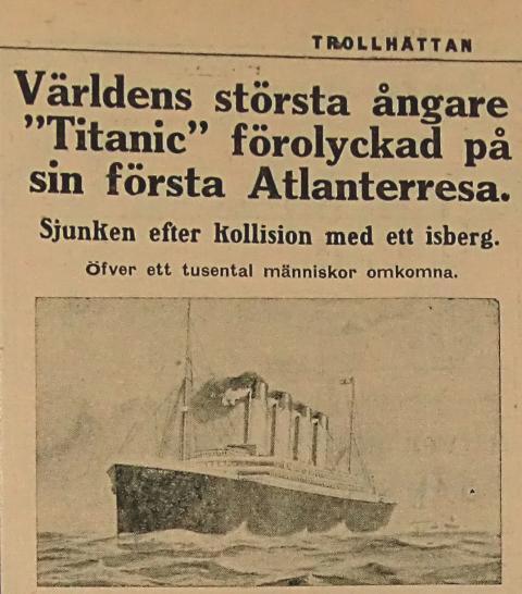 Trollhättan och Titanic på Lödösehus.