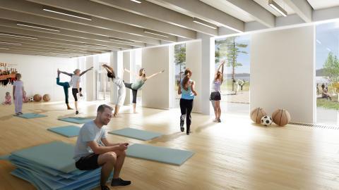 Interiör IKSU:s nya anläggning IKSU plus