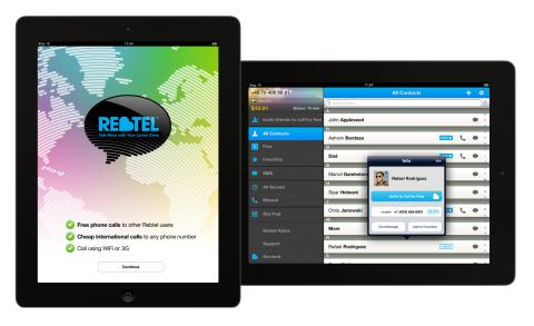 Rebtel Bridges Digital Divide with Launch of Free High Quality VoIP Calling App for iPad
