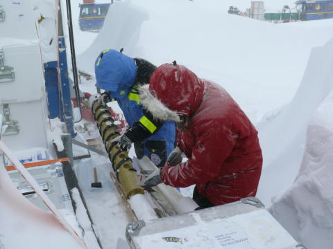 Ice core work during JASE-expediiton