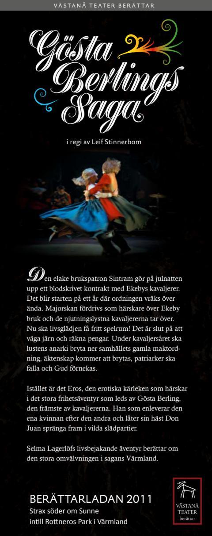 Speldatum och information Gösta Berlings Saga