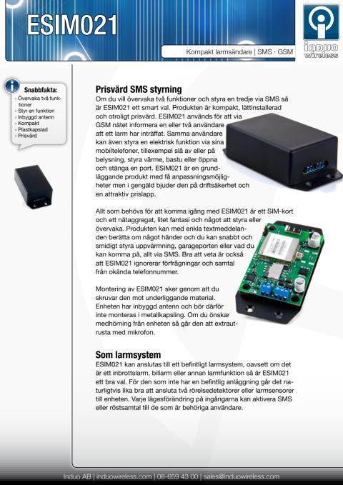 ESIM021 Enkel SMS styrning