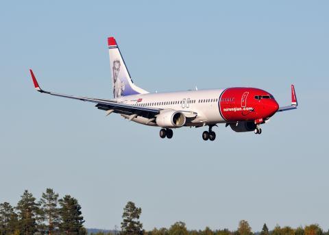 Norwegian-flyet LN-DYE