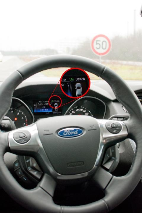 Undvik fortkörningsböter med Fords fartbegränsare