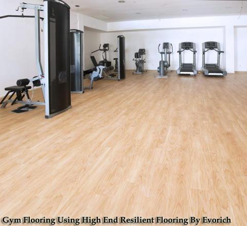 high end resilient flooring for gyms evorich flooring. Black Bedroom Furniture Sets. Home Design Ideas