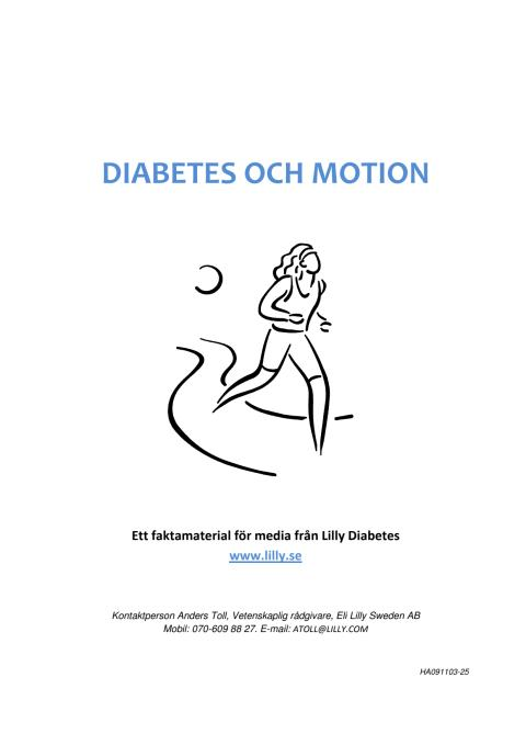Faktamaterial - diabetes och motion