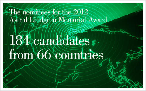184 candidates nominated for the Astrid Lindgren Memorial Award 2012