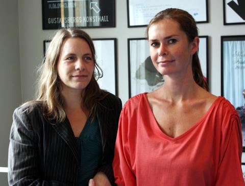 Agneta Linton och Maj Sandell på Gustavsbergs Konsthall