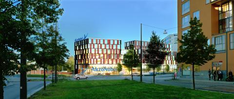 AkzoNobels nya svenska huvudkontor byggs i Sickla Affärskvarter