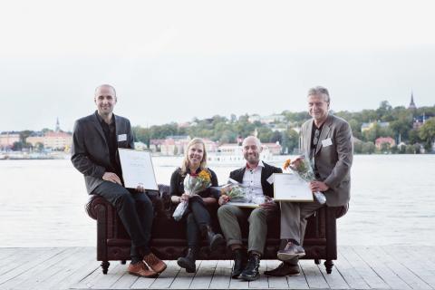 Delar av projektteamet - vinnare av Svenska Ljuspriset 2011 Götaplatsen, Göteborg