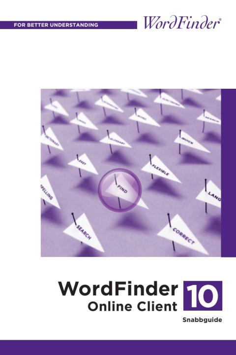 Snabbguiden för WordFinder Online Client