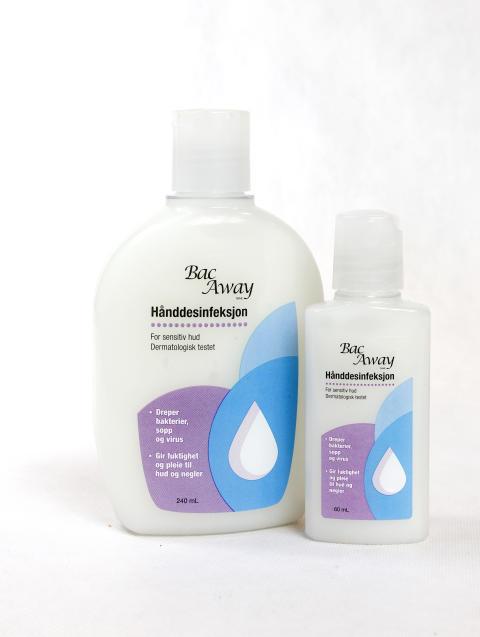 Hånddesinfeksjon for sensitiv hud som dreper bakterier, sopp og virus - gir fuktighet og pleie til hud og negler.