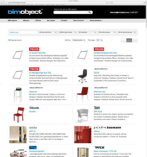 BIMobject lanserar global BIM objekt portal