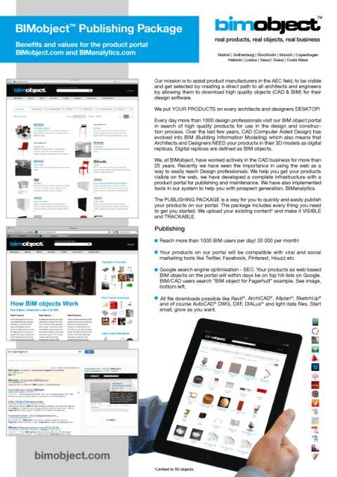 BIMobject Publiceringspaket  - Flyer, framsida